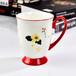 唐山奥美厂家陶瓷杯子骨质瓷色釉杯子定制批发