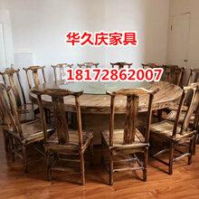 火烧炭化餐桌椅凳,田园乡村农家乐餐桌椅,火烧木桌椅订做图片