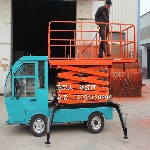 厂价直供剪叉式升降机车载升降平台路灯监控安装高空维修车6/8米图片