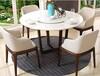 深圳餐厅家具定制大理石餐桌现代简约餐桌带转盘大理石餐桌