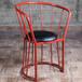 定制欧式铁艺餐椅铁皮椅金属椅子餐厅户外咖啡椅复古工业风椅铁皮凳子