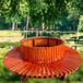 方形靠背樹圍椅公園靠背樹圍椅實木塑木圍樹坐凳樹圍椅組合套裝桌凳靠背椅