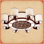 非标酒店工程灯中式木艺灯仿古客厅羊皮吸顶灯欧式铁艺吊灯图片