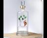 雙層玻璃白酒瓶內置造型綠竹工藝酒瓶廠家