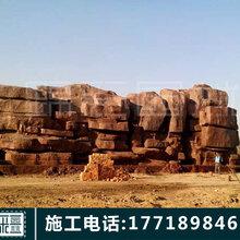 安徽假山施工大型大型假山塑石假山假树大门制作人造护坡假山卡通雕塑水泥溶洞施工制作