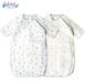 新生兒用品嬰兒印花四層紗布春秋睡袋寶寶全棉防踢被空調被