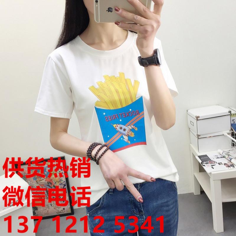 韩版纯棉女式T恤批发