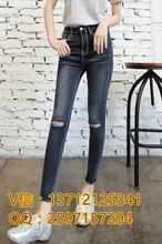 新款加厚牛仔裤女韩版时尚修身显瘦小脚铅笔裤浙江温州时尚修身显瘦收腰加绒加厚牛仔裤