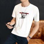 便宜男装半截袖哪里有韩版时尚短袖批发几块钱外贸短袖T恤