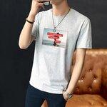 韩版短袖外贸男装批发市场供应10元以下地摊货短袖T恤宽松版