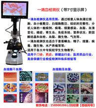 单目一滴血检测仪多少钱血细胞显微镜检测仪价格心血管检测仪图片