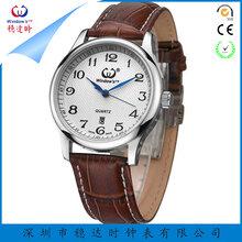 淘宝爆款男士简约时尚石英手表三针单厉棕色真皮表带高档低调
