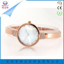 稳达时钟表女士简约时尚不锈钢镶钻石英手表不锈钢表带可定制LOGO
