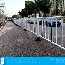 清远道路提升改造工程马路中央隔离栅面包管护栏图片