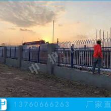 肇慶鐵欄桿廠家學校防爬圍墻護欄雙彎頭鋅鋼圍欄圖片圖片