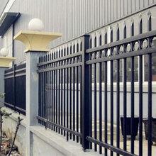 汕头锂电池厂围墙栏杆更换防锈镀锌管锌钢栅栏图片