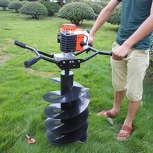 动力强劲植树挖坑机拖拉机挖坑机报价电线杆挖坑机厂家直销图片