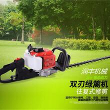 混合油高转速绿篱机双刃园林绿化修剪机采茶绿篱修剪机图片