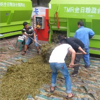 牛羊马草料搅拌机新型高效TMR混料机全日粮拌草机