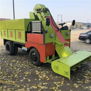 牛棚内自动清粪车22马力三轮柴油铲粪车
