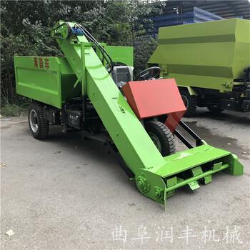 牛场内专用清粪车饲养场环保设备柴油铲粪车润丰