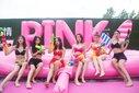 粉色水上嘉年華粉色水上闖關設備租賃出售圖片