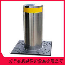 生产升降路障液压升降柱不锈钢挡车路桩伸缩路桩地柱