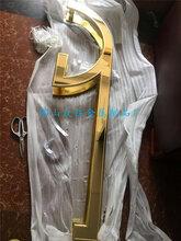 厂家直销铝艺大门拉手镜面镀K金异型大门拉手定做