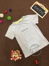 童装原单品牌童T恤夏季童装儿童短袖hm纯棉绣花男童T恤库存折扣货源批发