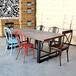 餐厅家具定做复古工业风主题餐厅餐桌椅铁艺水管餐桌定制火锅店餐桌椅组合