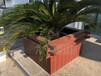九竹PVC微发泡结皮仿木材料,花箱,护栏