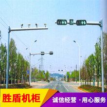 江西省監控南昌市監控天網工程攝像機立桿小區監控桿八角桿圖片
