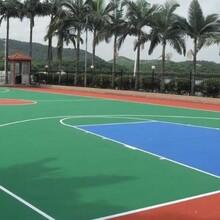武汉操场硅PU篮球场工厂塑胶球场价位_绿昂体育集团图片