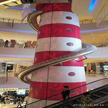 南京商场定制包柱铝单板红色弧形铝单板厂家图片