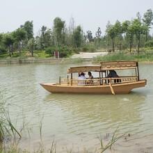 广东省中式木船旅游船生产厂家定做公园景区用船价格