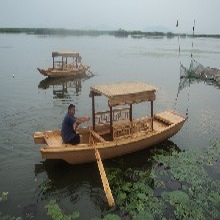江南木船厂家直销定做中式仿古乌篷船游湖观光小木船