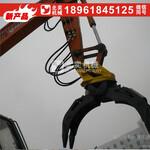 抓木器力士德挖掘机钩机液压360度旋转回转式抓木器夹木器图片