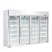 超市風幕柜冷藏柜組合島柜鮮肉柜飲料柜水果保鮮柜冰箱制冷設備