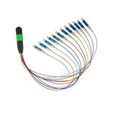 电信级24芯OM3万兆多模MPO扇形分支主干光缆跳线图片