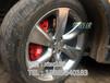 英菲尼迪FX35刹车改装英国AP刹车卡钳brembo鲍鱼刹车碟