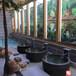 青花大缸镇宅风水摆件酒店洗浴大缸直径1.2米高度90CM