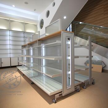 饰品展示架批发_定制商品玻璃展示柜_铝合金部署货架_喜慕乐厂家直销