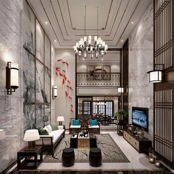深圳别墅设计效果图公司客厅效果图