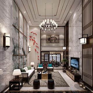 豪华别墅复式客厅装修效果图欣赏图片1