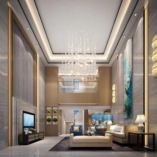 豪华别墅复式客厅装修效果图欣赏图片2