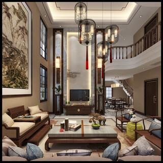 豪华别墅复式客厅装修效果图欣赏图片3
