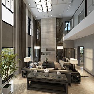 豪华别墅复式客厅装修效果图欣赏图片4