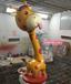游戏卡通动漫长颈鹿雕塑玻璃钢道具PU泡沫雕塑道具定制厂家