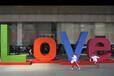 玻璃钢道具字母定制周年庆活动场地制作