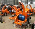 移动式多功能柴油树枝粉碎机操作简单,出料均匀。